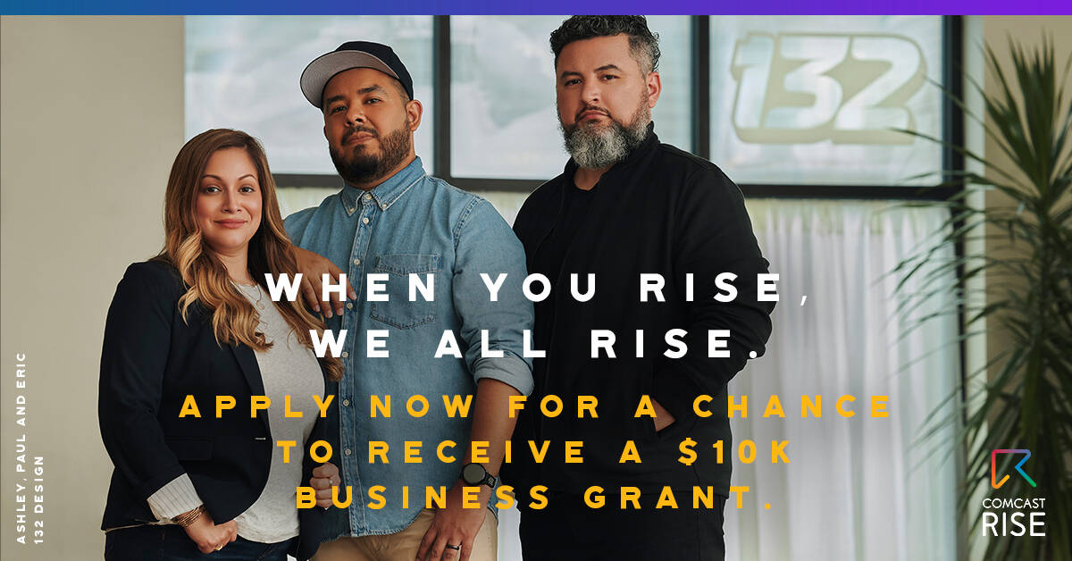 Through Comcast RISE, Comcast aims to create sustainable impact and give meaningful support to the small businesses who are shaping our communities.